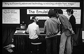 E-MU Emulator I на выставке NAMM 1981 года.