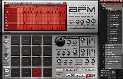 MOTU обновление для BPM 1.5 – виртуальной ритм-машины
