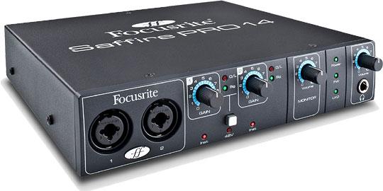 Многоканальный FireWire аудио интерфейс Saffire PRO 14