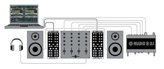 4-канальный стерео микшер.
