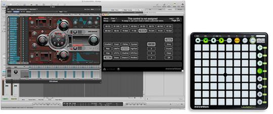 Аудиоинтерфейс Novation Launchpad S может функционировать как стандартный MIDI контроллер.