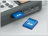 H4n использует компактные SD-карты  или карты памяти высокой емкости SDHC