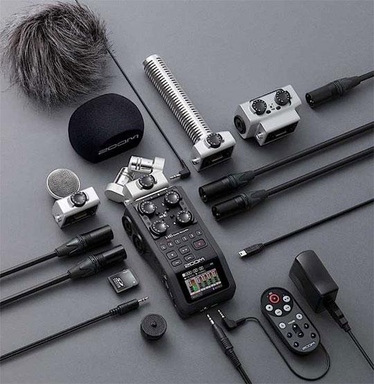 Профессиональный рекордер Zoom H6 в полной комплектации