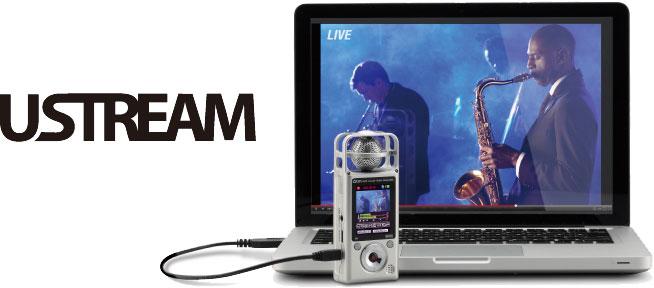 Подключение видеорекордера к компьютеру для работы с потоковыми приложениями для передачи видео в реальном времени ZOOM Q2HD