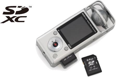 Совместимость ZOOM Q2HD с картами SDXC 64 ГБ высокой емкости