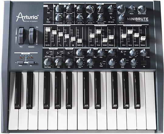 аналоговый монофонический синтезатор MiniBrute