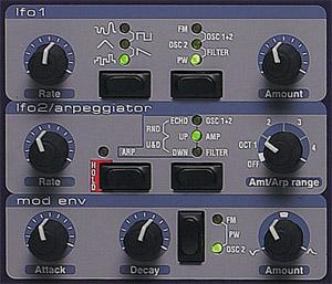 Секция виртуального синтезатора Clavia Nord Lead 2X