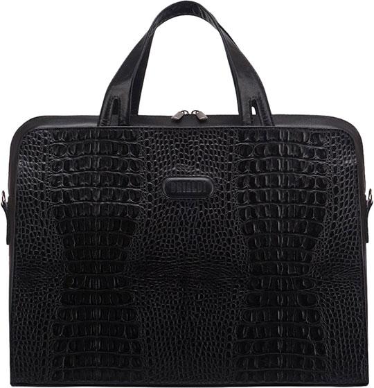 Кожаные сумки Brialdi ALICANTE-croco-bl цена и фото