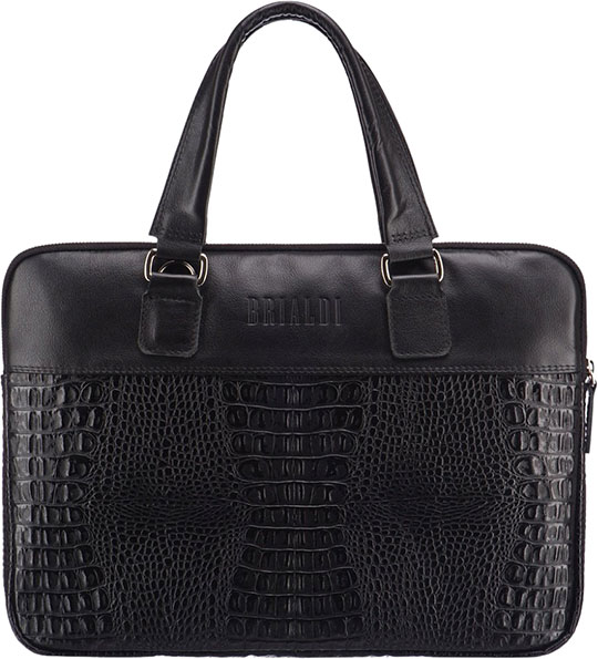 Кожаные сумки Brialdi BELVI-croco-bl цена и фото