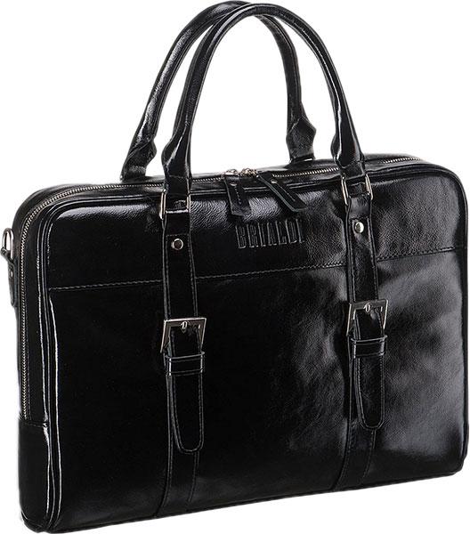 Кожаные сумки Brialdi DARWIN-shiny-bl сумка через плечо brialdi business norman norman shiny black