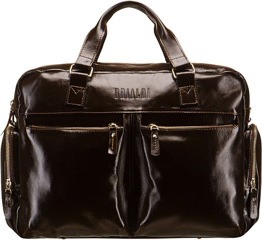 Кожаные сумки Brialdi DAYTON-shiny-br сумка через плечо brialdi business norman norman shiny black