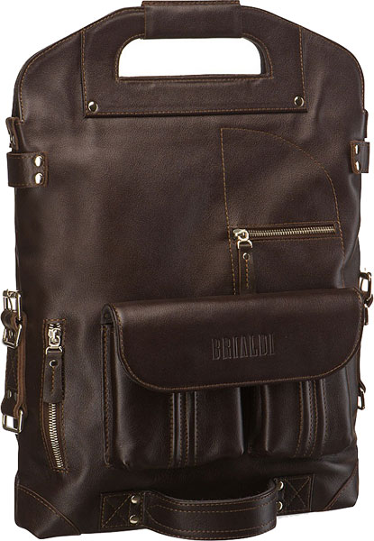 Кожаные сумки Brialdi FLINT-br клатчи brialdi orlando br