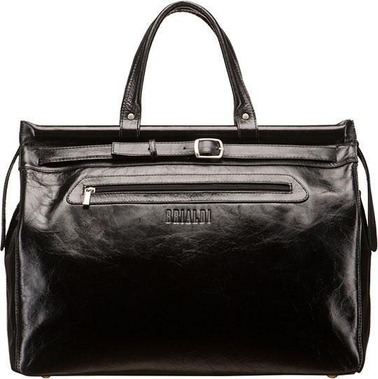 Кожаные сумки Brialdi MADRID-shiny-bl сумка через плечо brialdi business norman norman shiny black