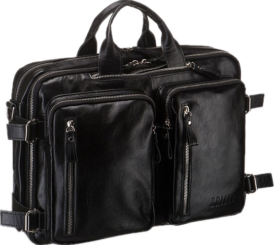 Кожаные сумки Brialdi NORMAN-shiny-bl цена и фото
