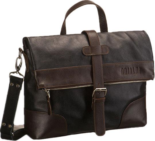 Кожаные сумки Brialdi SOMO-bl сумка через плечо brialdi business norman norman shiny black
