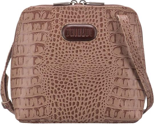 Кожаные сумки Brialdi TORRE-croco-cappuccino