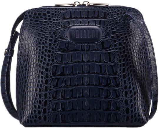 Кожаные сумки Brialdi TORRE-croco-navy кожаные сумки brialdi elche croco navi
