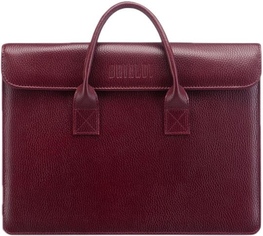 Кожаные сумки Brialdi VIGO-relief-cherry