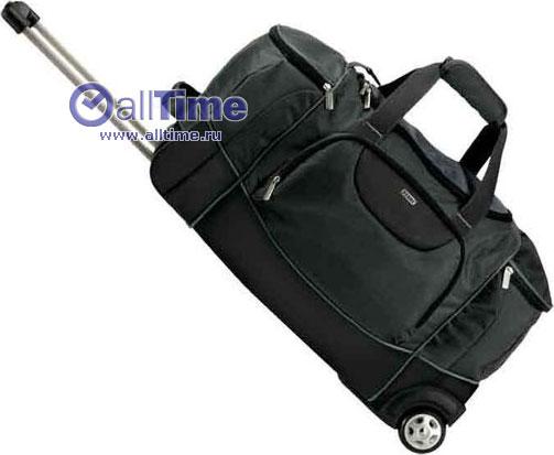 Дорожная сумка на колесиках с выдвижной ручкой.  В избранное.  Материал.