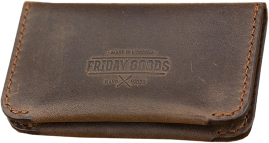 Визитницы и кредитницы Friday Goods 12480-chocolate