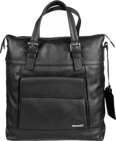 Фото «Мужская кожаная сумка Gianni Conti 1602367-black»