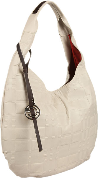 Кожаные сумки Gianni Conti 1634572E-ivory-dark-brown