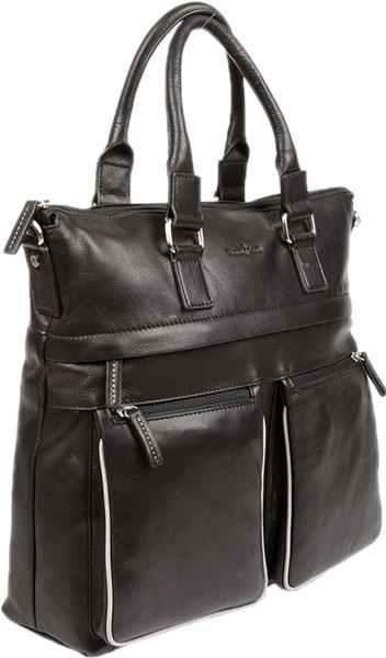Кожаные сумки Gianni Conti 1752258-black-grey пошел козел на базар