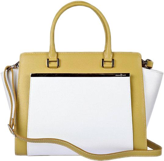 Кожаные сумки Gianni Conti 494406-kiwi-white кожаные сумки gianni conti 2514325 coral