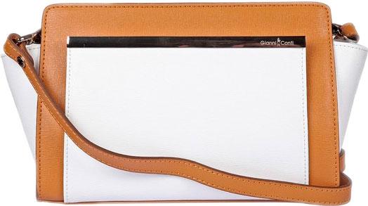 Кожаные сумки Gianni Conti 494408-tan-white