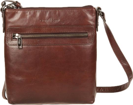 Кожаные сумки Gianni Conti 704371-brown кожаные сумки gianni conti 1636896 ivory dark brown
