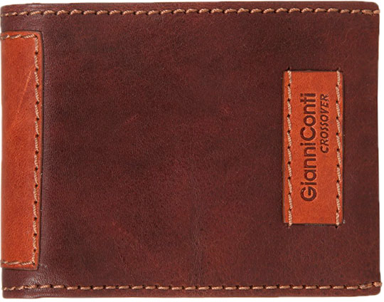 Кошельки бумажники и портмоне Gianni Conti 997142-dark-brown-leather кошельки piero портмоне