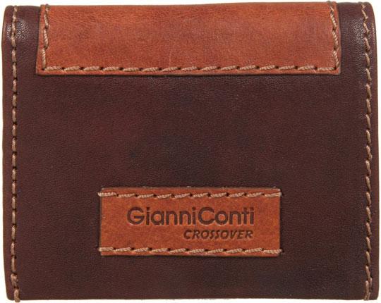Кошельки бумажники и портмоне Gianni Conti 997387-dark-brown-leather кошельки бумажники и портмоне mano 20103 setru black