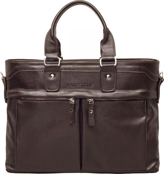 Кожаные сумки Lakestone 9227/BR мужская сумка lakestone halston 923124 923124 db