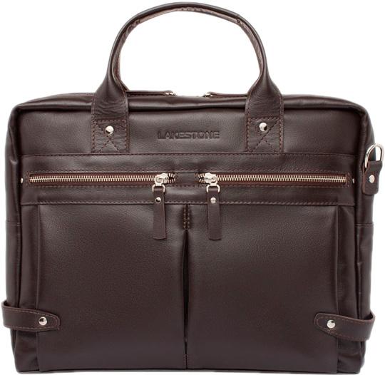 Кожаные сумки Lakestone 923100/BR сумка lakestone denston 957087 957087 br