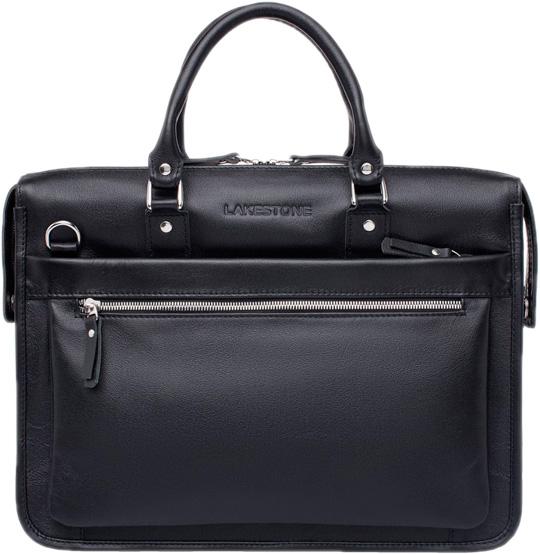 Кожаные сумки Lakestone 923124/BL мужская сумка lakestone halston 923124 923124 db