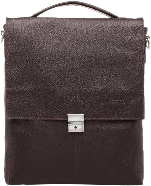 Кожаные сумки Lakestone 9521F/BR сумка lakestone denston 957087 957087 br