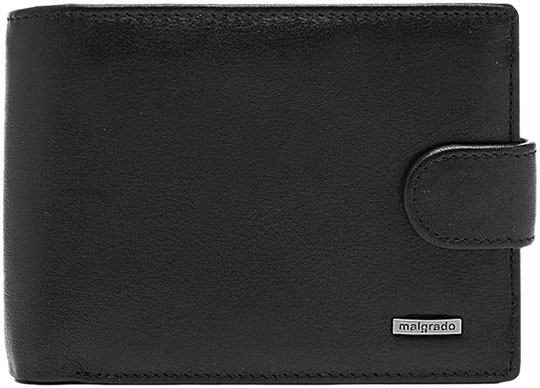 Кошельки бумажники и портмоне Malgrado 36002-55D-Black  обложки для документов malgrado 54019 3 55d black