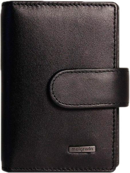 Визитницы и кредитницы Malgrado 42003-3-55D-Black  обложки для документов malgrado 54019 3 55d black