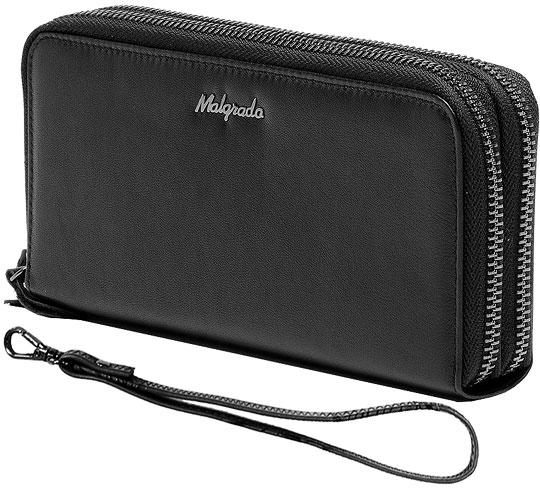 Кошельки бумажники и портмоне Malgrado 73007-55D-Black кошельки бумажники и портмоне malgrado 56504 55d black