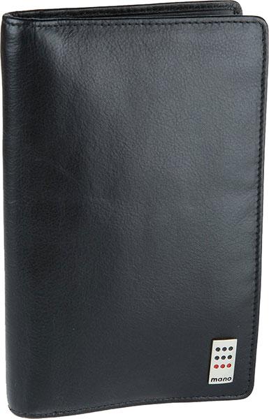 Кошельки бумажники и портмоне Mano 15511-black кошельки mano портмоне для авиабилетов