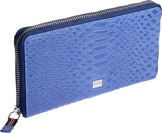 Кошельки бумажники и портмоне Mano 20151-croco-blue lucky john croco spoon big game mission 24гр 004