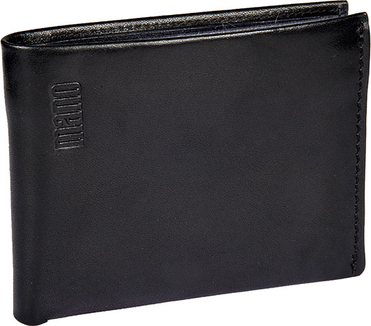 Кошельки бумажники и портмоне Mano 20303-black-blue косметичка mano 13422 black