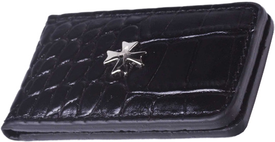Зажимы для денег Narvin 9112-n-aligro-black плитка под кожу крокодила в екатеринбурге