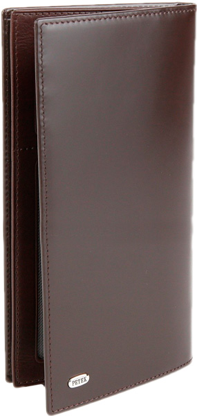 портмоне мужское petek 1855 цвет темно коричневый 184 46b 02 Кошельки бумажники и портмоне Petek 244.M51.02