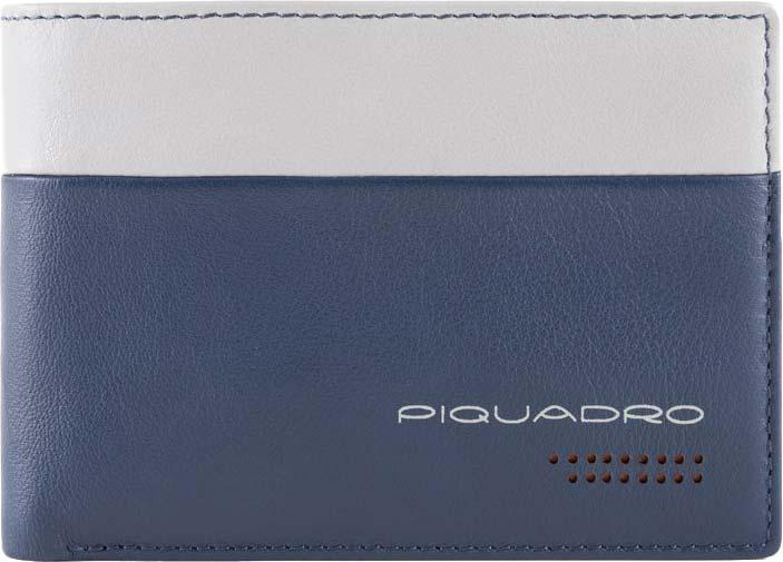 Кошельки бумажники и портмоне Piquadro PU257UB00R/BLGR Piquadro   фото