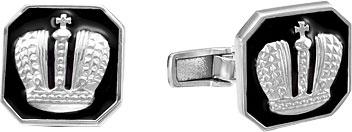 Запонки Серебро России 140027R-57600 запонки серебро россии 141025r 57603