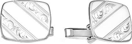 Запонки Серебро России ZP-003R-57846