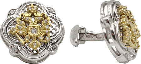 Запонки Серебро России ZP-08-0011RZ00-56484 запонки серебро россии 141025r 57603