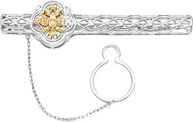 Зажимы для галстуков Серебро России ZZH-07-0025RZ-53045