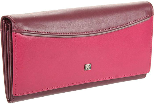 Кошельки бумажники и портмоне Sergio Belotti 1164-arezzo-carmin-fuxia визитница sergio belotti 3551 irido fuxia